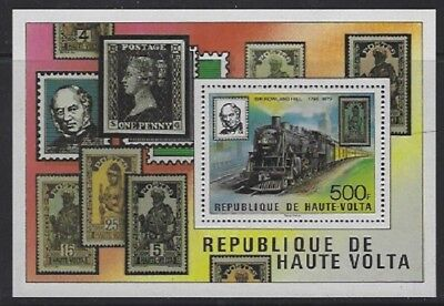 V4749 Obervolta-burkina Faso/ Eisenbahn Minr Block 53 ** Wohltuend FüR Das Sperma Briefmarken Afrika