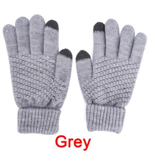gants d/'hiver de laine chaude d/'hiver de tricot de gant d/'homme de femme wbfr