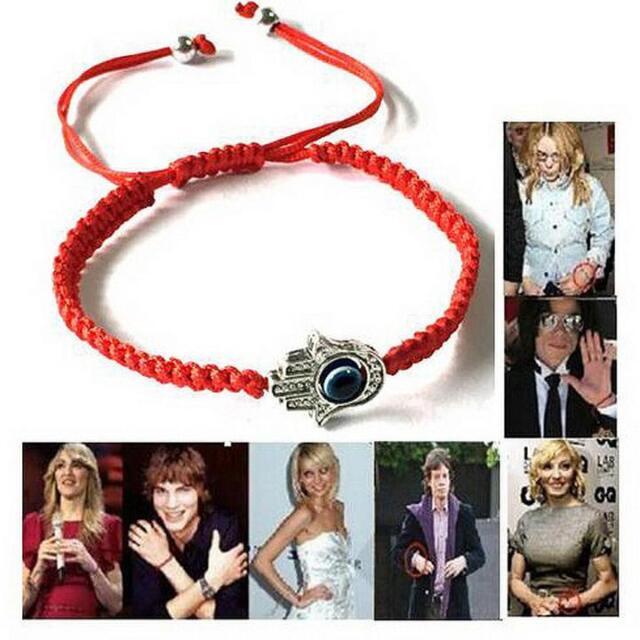 Good Luck Kabbalah BRACELET Hamsa Hand of GOD Evil eye ADJUSTABLE Red String X @