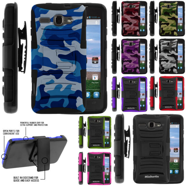 Alcatel One Touch Sonic A851L Rugged Hybrid Dual Color Holster Belt Clip Case
