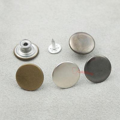"Jean Tack Snap Button Stud Rivet NO-SEW 17mm 5/8"" Look Inside Fine"