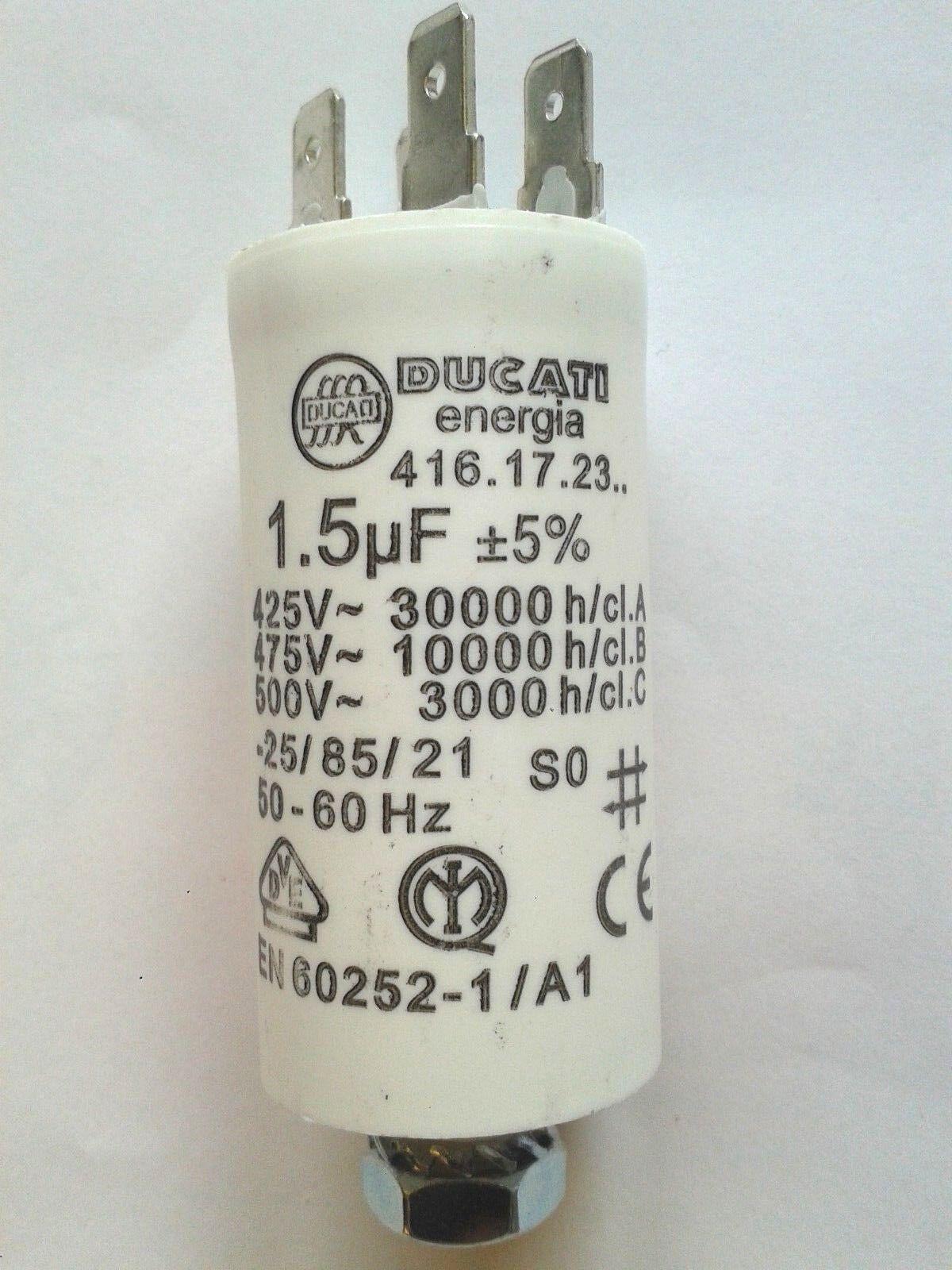 Betriebskondensator Motorkondensator Ducati 1,9uF 4.16.17.C7.06