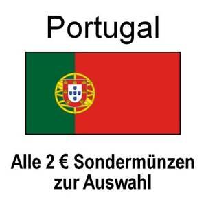 Portugal - alle 2 Euro Sondermünzen Gedenkmünzen - alle Jahre - bankfrisch unc.
