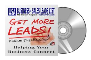 US Business DataBase Sales Leads List USA South Region Telemarketing List