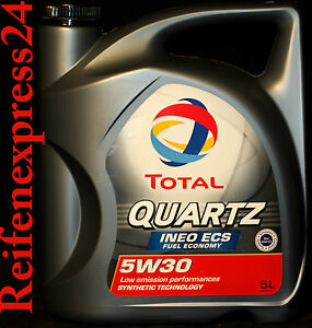 5-Liter-TOTAL-Quartz-Ineo-ECS-5W-30-Motoroel-5W30-ACEA-C2-PEUGEOT-TOYOTA-CITROEN