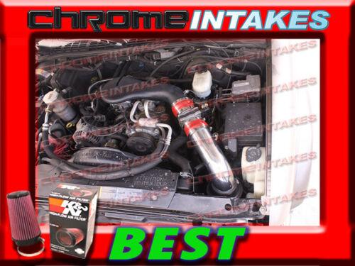K/&N+RED 96 97 98-05 CHEVY S10 ZR2 BLAZER SONOMA JIMMY 4.3L V6 COLD AIR INTAKE HS