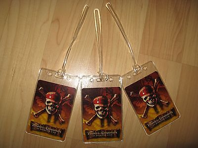 Pirates Of The Caribbean Luggage Tags - At World's End Movie Skull Tag Set (3)