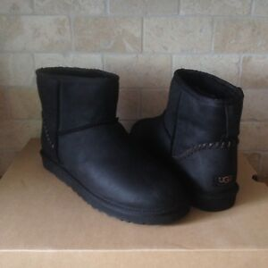96110c55998 Details about UGG Classic Mini Deco Water-resistant Leather Sheepskin Boots  Size US 9 Mens