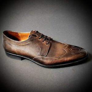 watch 3d044 3264b Details zu Lloyd edle Herrenschuhe Anzug Schuhe braun Budapester Ledersohle  NEU