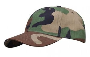 PROPPER-6-Panel-US-Baseball-Cap-Army-Cap-Camo-Hat-Woodland-camouflage-has