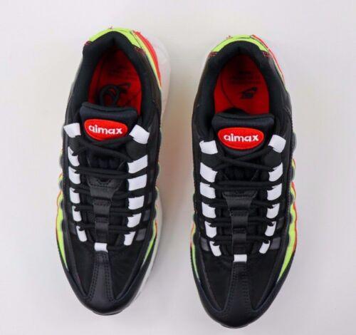 Nike Air Max 95 Schwarz Volt Habanero Rot Laufschuhe 307960-019 Damen Größe 7