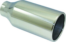 "T-304 Polished Stainless Steel Exhaust Tip 2.50"" Inlet 4.5"" Outlet 10"" L Weld-On"