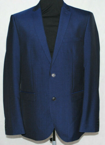 Giacca £ Tailored abito 85 Rrp formale Fit Navy Button Mens 40l Blazer Next 2 qg07nE