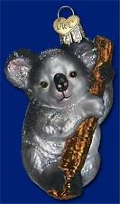 KOALA BEAR OLD WORLD CHRISTMAS GLASS MARSUPIAL AUSTRALIAN ANIMAL ORNAMENT 12356
