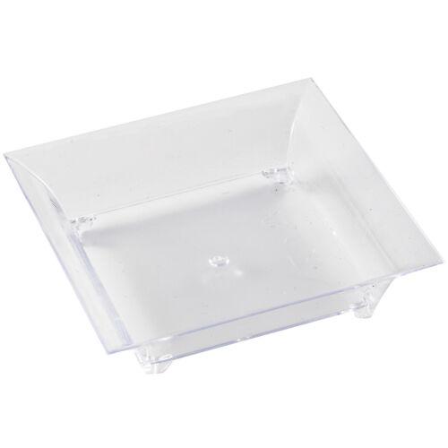 Mashers Disposable Clear Plastic Square Mini Serving Dish Platters 24 Pack