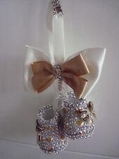 Romany Bling Booties Pram Crystal Charm Christening  Push Chair Charm Gift New
