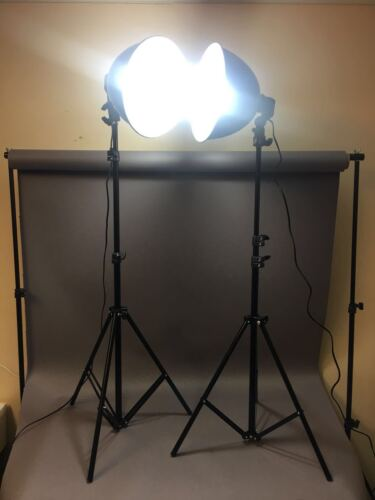 Pair of Photography Studio Continuous Lighting Kit UK Shipping