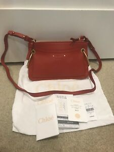 7fbdb638867a2 Chloe Small Roy Leather   Suede Earthy Red Shoulder Bag NWT ...