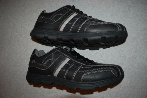 Mens Shoes BLACK GRAY CASUAL SNEAKERS Bicycle Toe 7.5 8 8.5 9 9.5 10 10.5 12 13