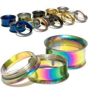 Pair-Screw-Titanium-Stainless-Steel-Black-Flesh-Ear-Tunnels-Plugs-Gauges-Earring