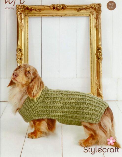 Stylecraft 9178 Knitting Pattern Ribbed Dog Coat in Life Chunky | eBay