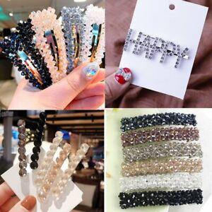 Women-Crystal-Rhinestone-Hairpin-Hair-Clip-Barrette-Hair-Accessories-Gift-Hot