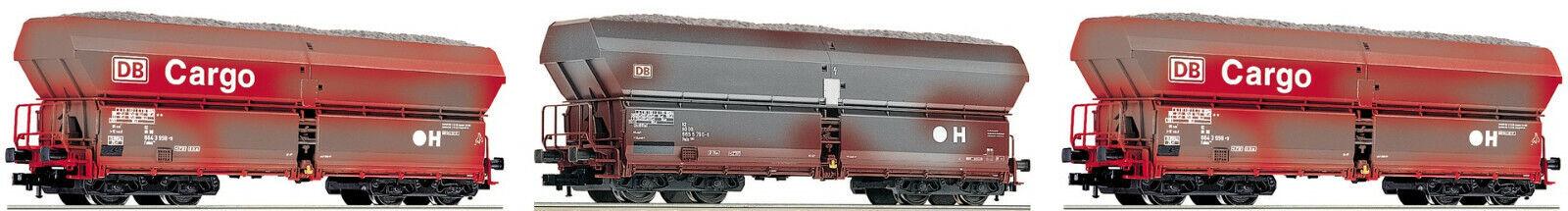 Fleischmann 552316 H0 3-tlg. Set Großraum-Selbstentladewagen DB AG OVP + NEU