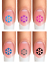 Indexbild 9 - Nail Tattoo Nail Art Schneeflocken Eiskristalle Winter Weihnachten + Glitter