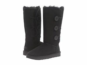 Women-039-s-Shoes-UGG-Bailey-Button-Triplet-II-Boots-1016227-Black-New