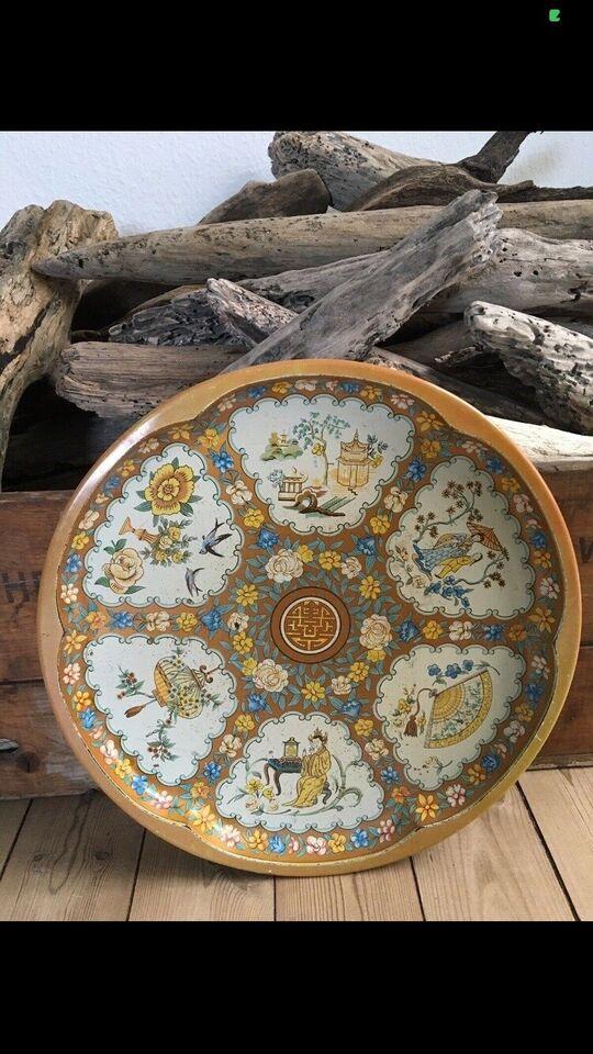 Smukke antikke træ serveringsbakker, 1800-1900-tallet