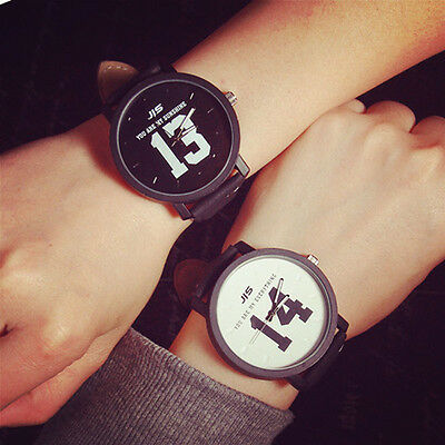 Fashion Lovers Men Women Couple watches Leather Band Quartz Analog Wrist Watch