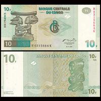 Congo 10 Francs, 1997, P-87B, UNC
