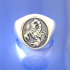 listing zodiac astrology ring aries scorpio sign il silver rings jewelry taurus signet horoscope