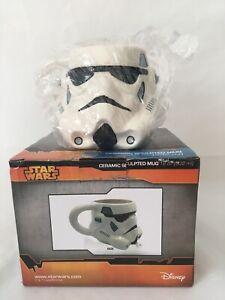 Disney NEW!! Star Wars Stormtrooper Ceramic Sculpted Mug White Great Gift NIB