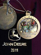 NEW 2002 John Deere Pewter Christmas Ornament NIB 7th in the series