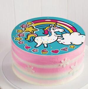 Einhorn Tortenaufleger Essbar Foto Torte Mädchen Geburtstag Oblate