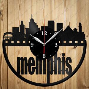 Details About Vinyl Clock Memphis City Handmade Art Home Decor Original Gift