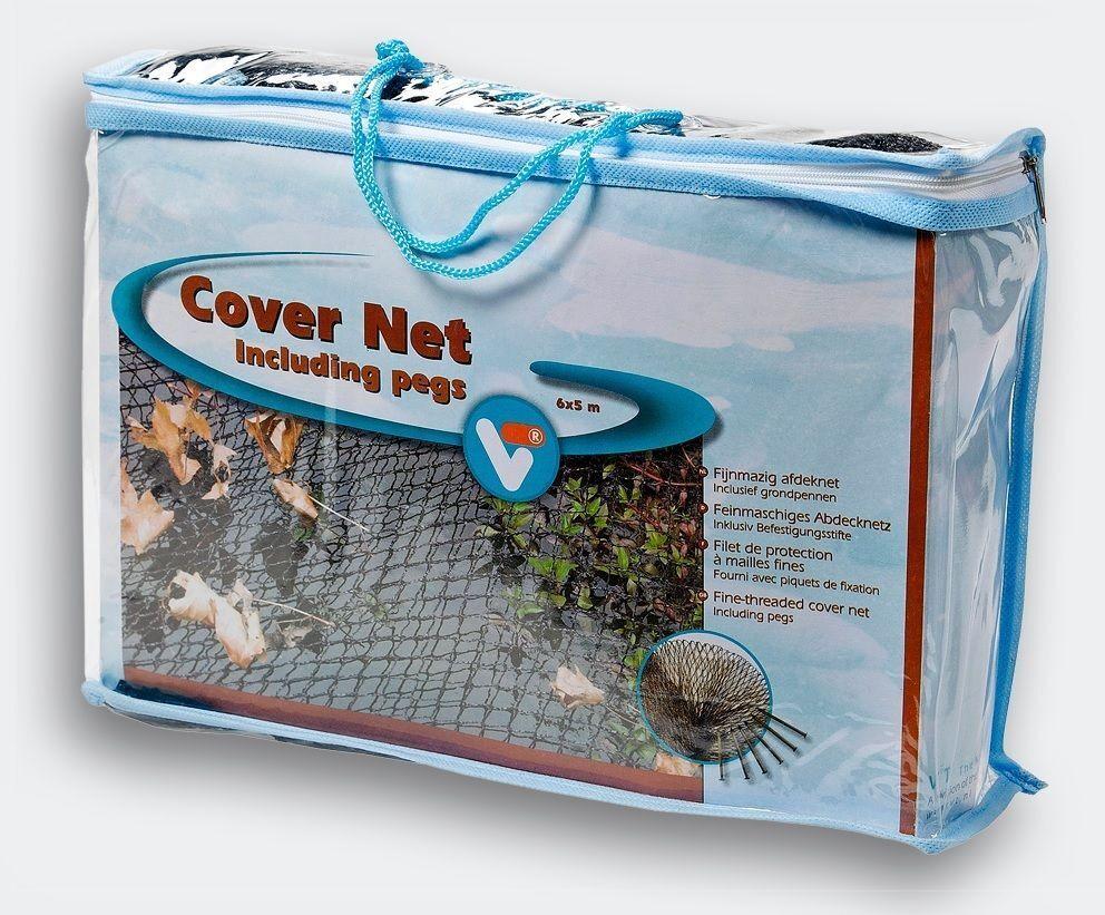 Black 6m x 5m Garden Fish Pond Cover Net Heron Cat Fox Leaves Protector + Pegs