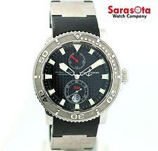 Ulysse Nardin Maxi Marine 263-33 Black Dial Steel/Rubber Automatic Men's Watch