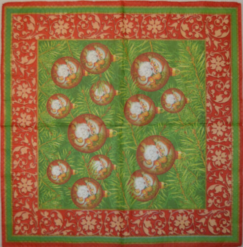 Mesa De Papel Servilletas para Craft Vintage Navidad Deco Decoupage partidos de té 402