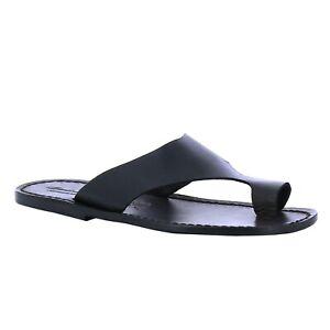 Italian shoes handmade men's flip flops