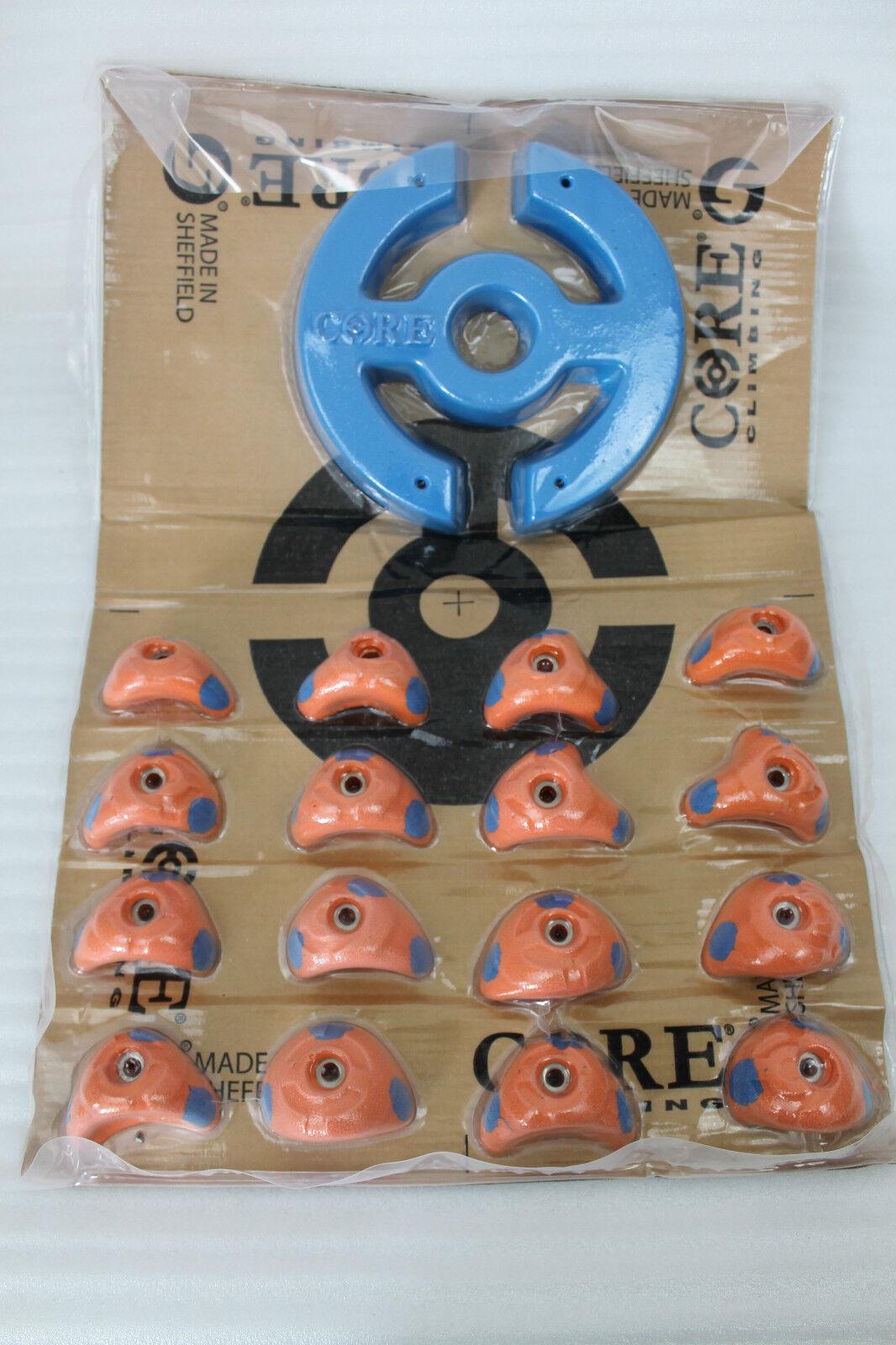 Core Climbing Arrampicata Manici 16 Pezzo SpezialKlettergriff Arancione Blu