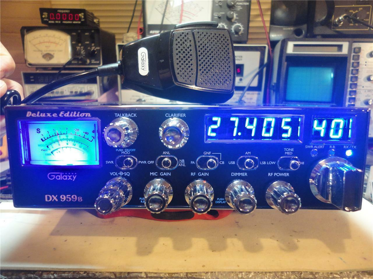 GALAXY DX 959B CB RADIO,SUPERTUNED,40-50 WATTS OUT ((SKIP TALKING^^^SKY WALKER)). Available Now for 340.00