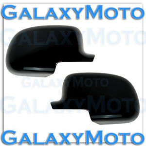 99-06-Chevy-Silverado-02-06-Avalanche-Factory-Gloss-Black-Mirror-Cover-1-Pair
