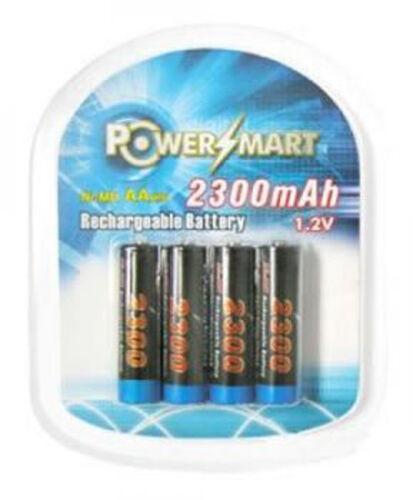 Nickel-Metal hydrures rechargeables 2300mah AA 4-pack 1,2v