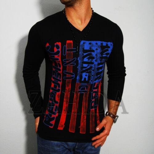 EEUU America América Zahida Hombre Sudadera Camiseta Larga Diseño EE.UU