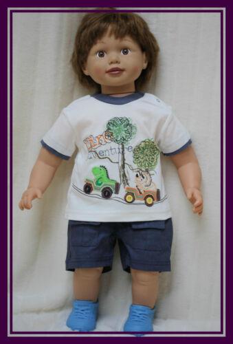 BABY BOY TODDLER  2 PIECE SET T-SHIRT TOP SHORTS SUMMER OUTFIT SET 3-6 6-9 9-12