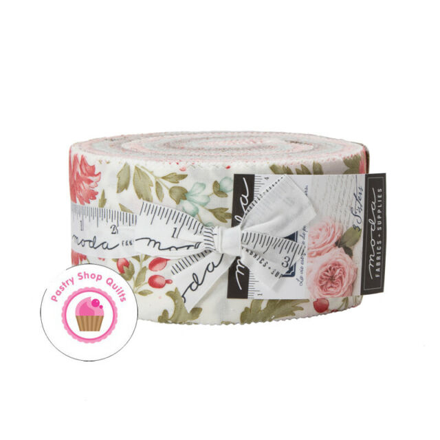 """Moda RUE 1800 3 Sisters JELLY ROLL 40 - 2 1/2"""" strips Quilt FABRIC"""