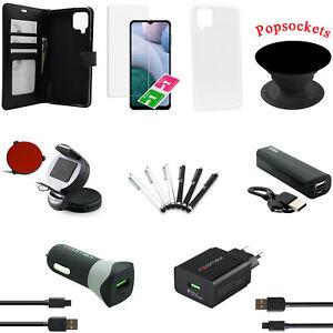 18 teiliges Samsung Galaxy A12 Zubehör Paket Set Tasche Hülle Charger Powerbank
