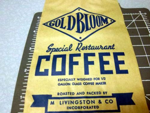 empty KY Vintage 1940s Goldbloom Special Restaurant coffee bag Paducah